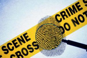 פרופילאות, טביעת אצבע, סרט ברקע שכתוב עליו אזור של מעשה פשע