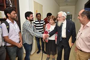 Vijay with Robert Aumann