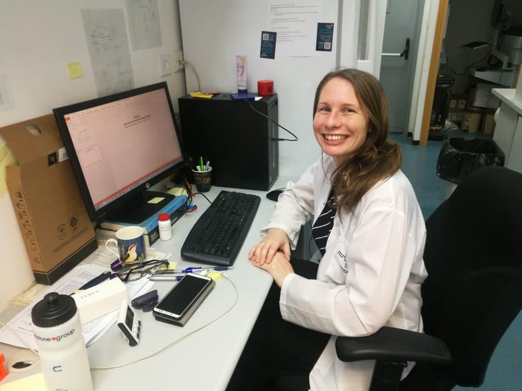 Sarah Blackwood in the lab