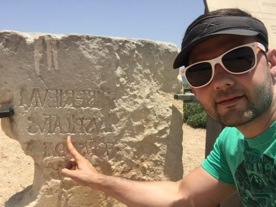 Christian at Cesarea with Pilat inscription