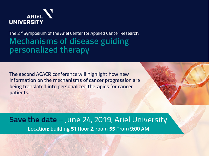 2nd Symposium of the Ariel Center for Applied Cancer