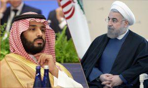 Mohammad bin Salman and Hassan Rouhani