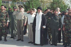 Ali Khamenei with the Revolutionary Guard Corps and Basij - Mashhad