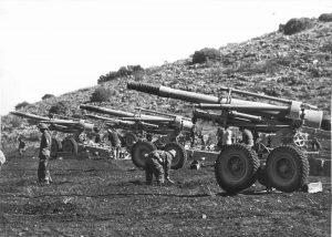 סוללת תותחים של צה'ל שנות ה 60'