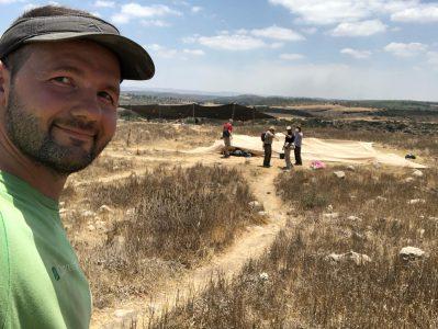Christian at Tel Burna excavations