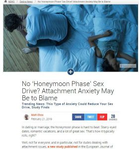 Attachment Anxiety May Be to Blame