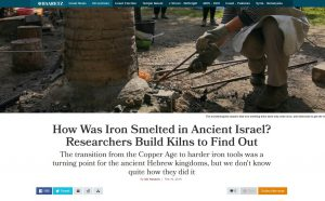 How Was Iron Smelted in Ancient Israel