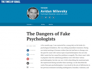 The Dangers of Fake Psychologists